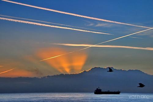 blue sea birds clouds coast cyprus d300 larnaka airplanemark nikond300 travelsofhomerodyssey cyprusseascape varnavasthearchitect