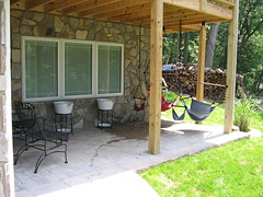 Front patio of Green Heron Room