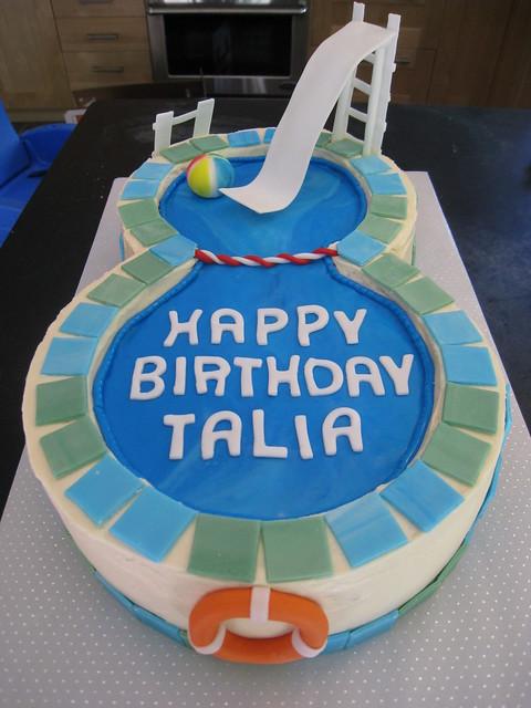 Talia 39 S Swimming Pool Cake Flickr Photo Sharing