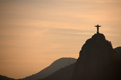 Christ Redeemer seen from Sugarloaf Mountain