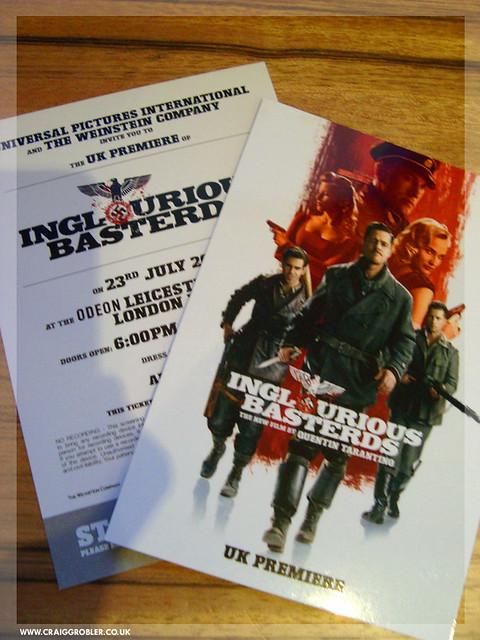 Inglourious Basterds UK Premiere - Premiere tickets