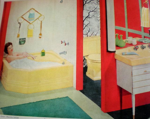 Yellow Red Green Black Bathroom Flickr Photo Sharing