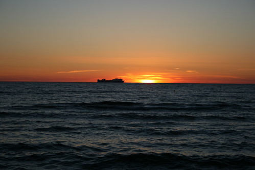 sunset sea sky sun canon landscape balticsea latvia lettland aigarsr