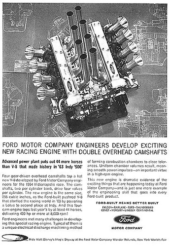 1964 Ford Quad Cam Indy 500 engine,255 Cubic Inches ...