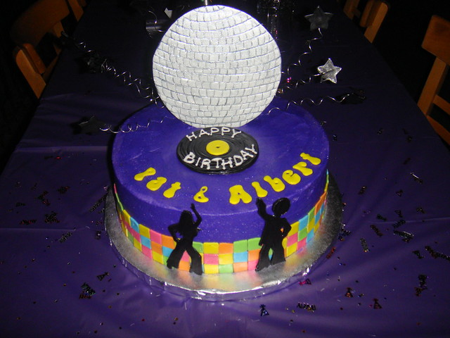 Disco Birthday Cake Pictures
