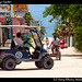 Traffic jam, Caye Caulker