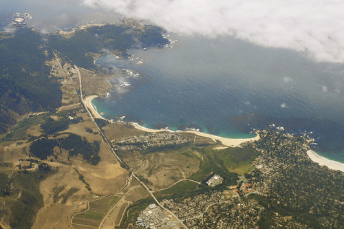 Above Point Lobos and Carmel-By-The-Sea, Monterey County, California
