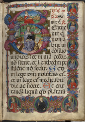 Psalterium cum Antiphonis [Folio 1, recto]