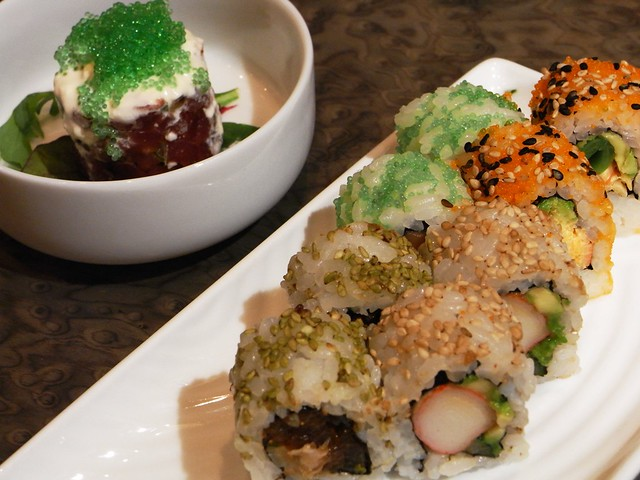 Maki Sushi Variado y Tartar de Atún