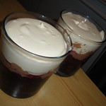 Homemade cherry, chocolate and creme desserts for after dinner! TWO ARE BETTER THAN ONE! YUM! 2009! ENJOY! MUCH MORE!