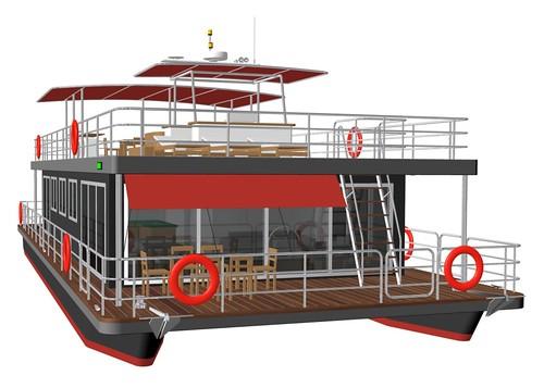 Pontoon house boat car interior design for Pontoon boat interior designs