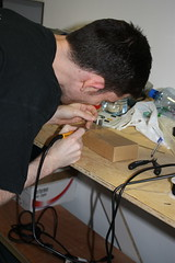 LEDs being soldered