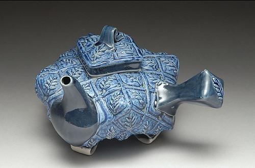 Blue Leaf Teapot