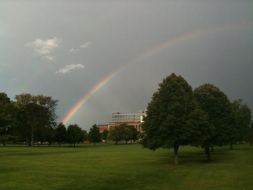 Rainbow over Memorial Stadium