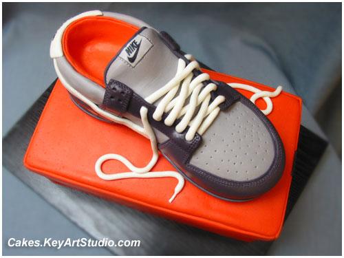 Nike Shoes Cake Design : Nike Sneaker / Running Shoe on the Box Cake Flickr ...