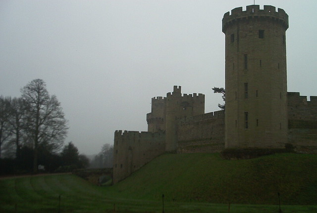 Warwick Castle in the rain