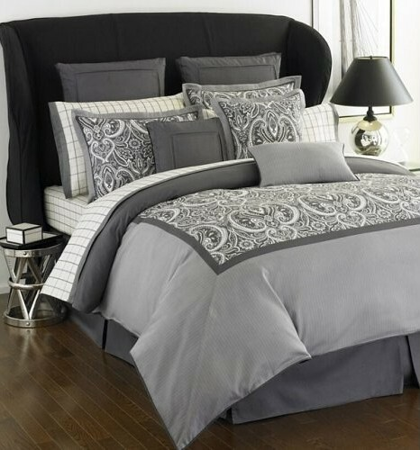 Tommy Hilfiger Hudson Valley Grey Paisley King Comforter