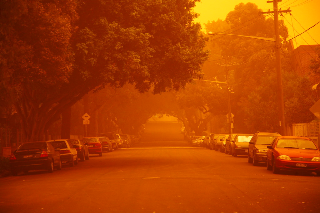 Red Dust Haze over Sydney @ ShockBlast