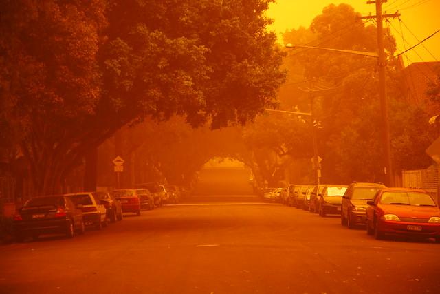 Inner city dust storm