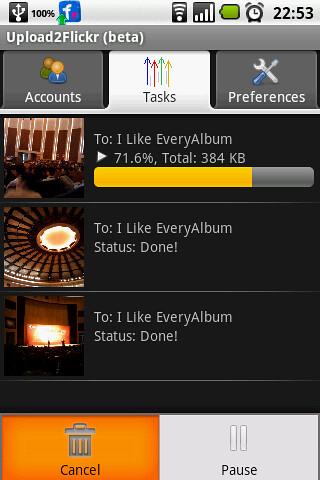 upload2flickr screenshot - Tasks Management by Upload2Flickr