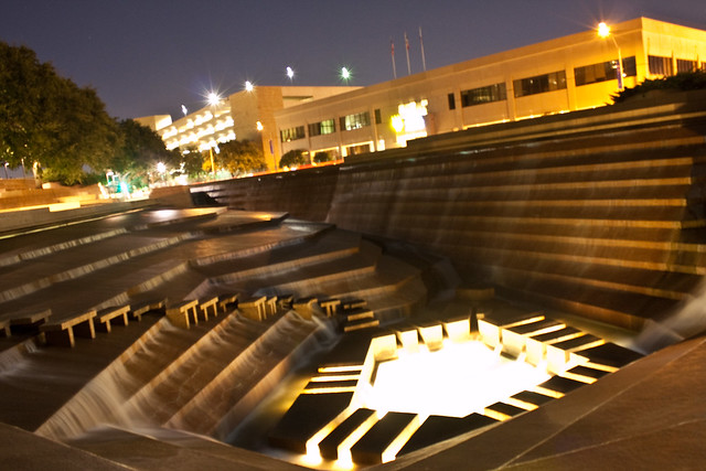 Fort Worth Water Gardens At Night Flickr Photo Sharing