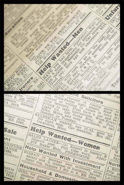 Help Wanted in a 1935 newspaper Flickr Photo Sharing