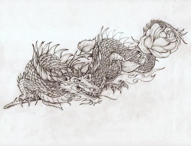 dragon.rose.tattoo