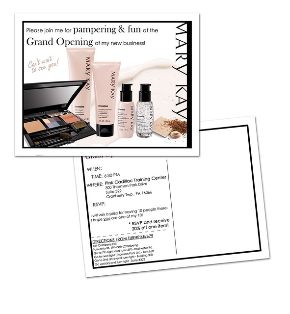 Mary kay business debut invitation party invitations ideas for Mary kay invite templates