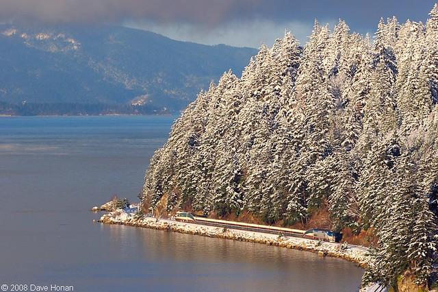 Amtrak Cascades #513 at Samish Bay, WA