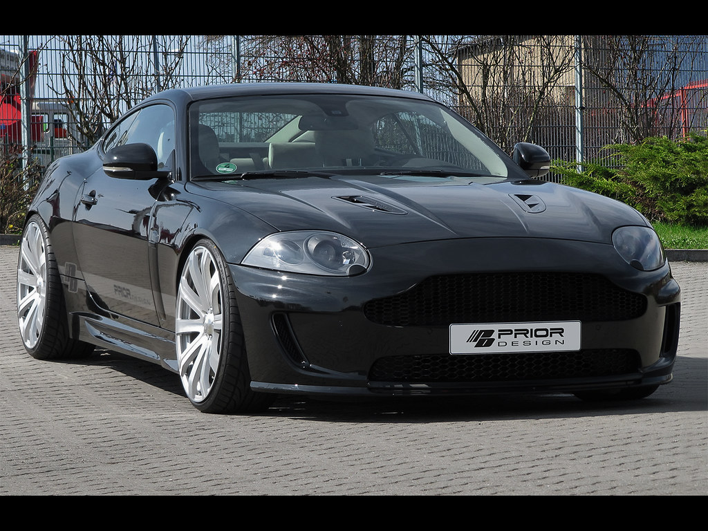 jaguar xk and xkr aston martin style front bumper and gril… | flickr