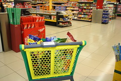 Grocery trolley.