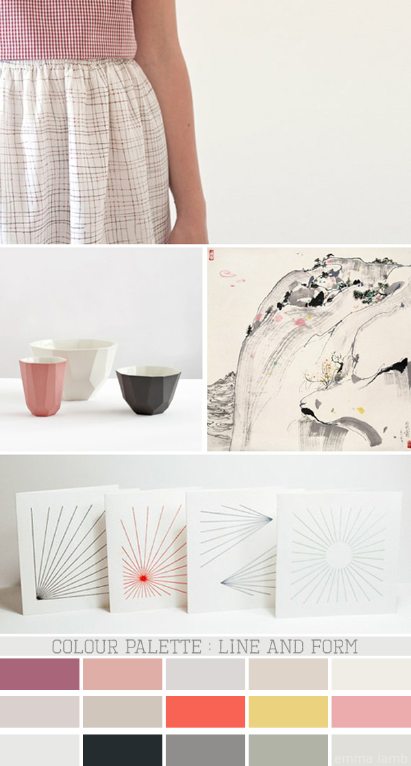 colour palette : line and form - curated by Emma Lamb