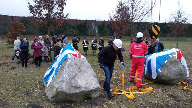 Cairngorms National Park in Scotland donated two boulders to Amersfoort. Thank you!