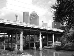 Sabine St. Bridge over Buffalo Bayou, Houston, Texas 0629091655BW
