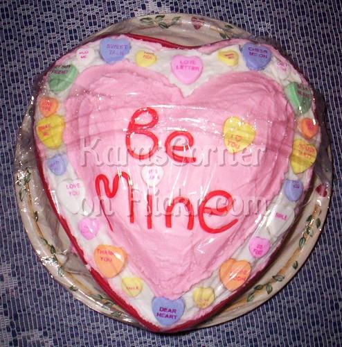 Valentine's Day Candy Conversation Heart Cake