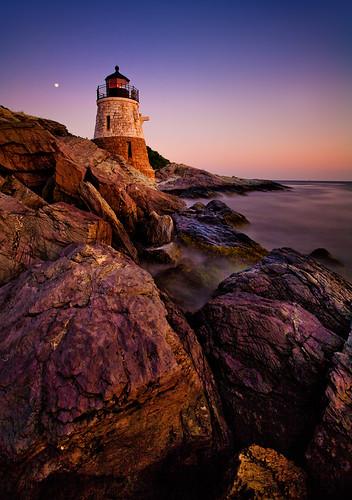 longexposure sunset lighthouse rhodeisland newport 5d castlehill narragansettbay canonef1740mmf4l bw30nd