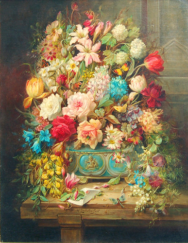 stilllife with flowers and butterflies
