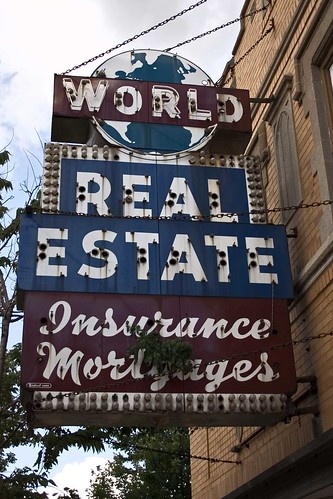World Real Estate sign by William 74
