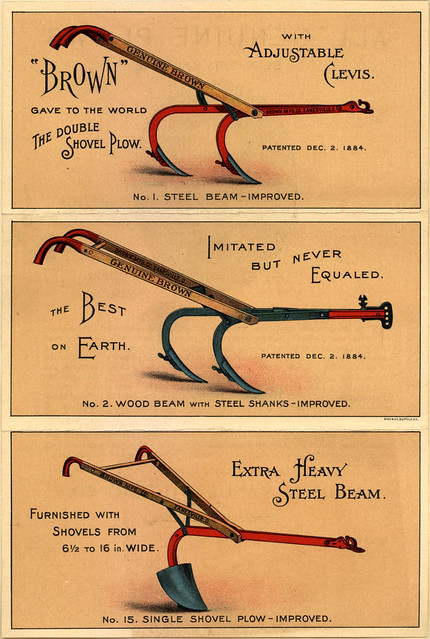 Brown Double Shovel Plow Ad 1884 Flickr Photo Sharing
