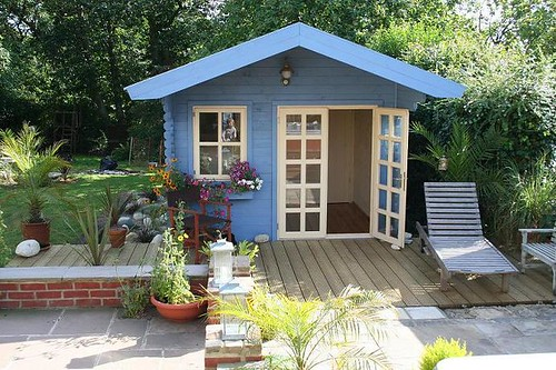 Garden Cabin With Patio