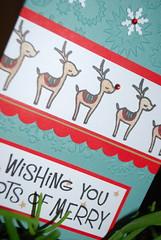 Linda christmas reindeer detail