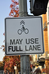 May Use Full Lane by Eric Gilliland on FlickR