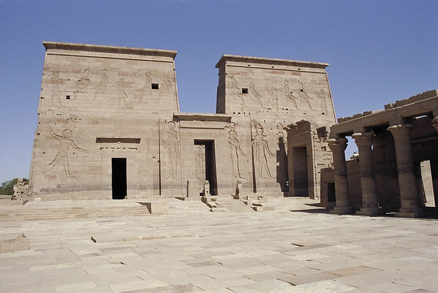 Temple of Isis, Philae first Pylon  Flickr - Photo Sharing!
