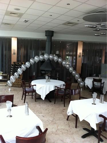 Heliumboog 5m Zilver Wit