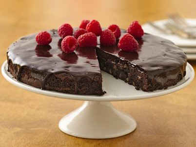 Recipe: Brownie Ganache Torte with Raspberries