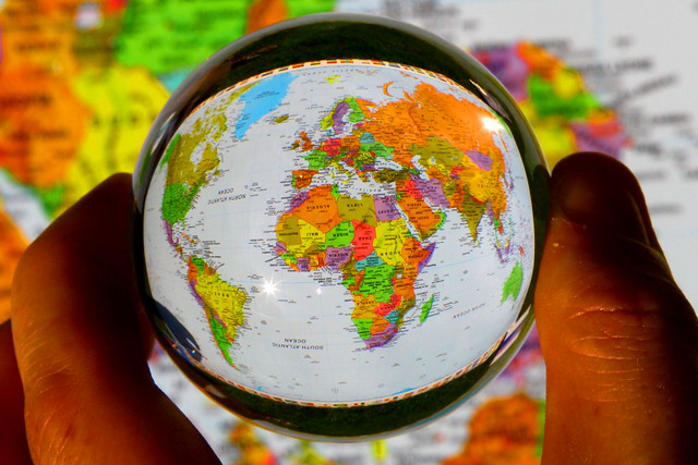I've got the whole world in my hands.