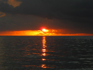Sunset in the Indian ocean
