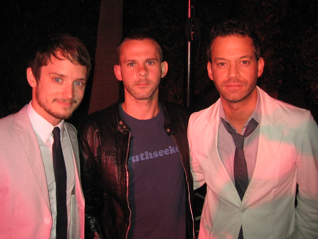 Elijah Wood, Dominic Monaghan and Jason Zwolinski