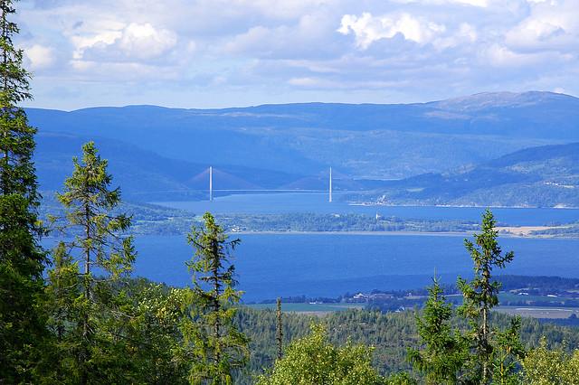 Utsikt fra Lundsbustaden