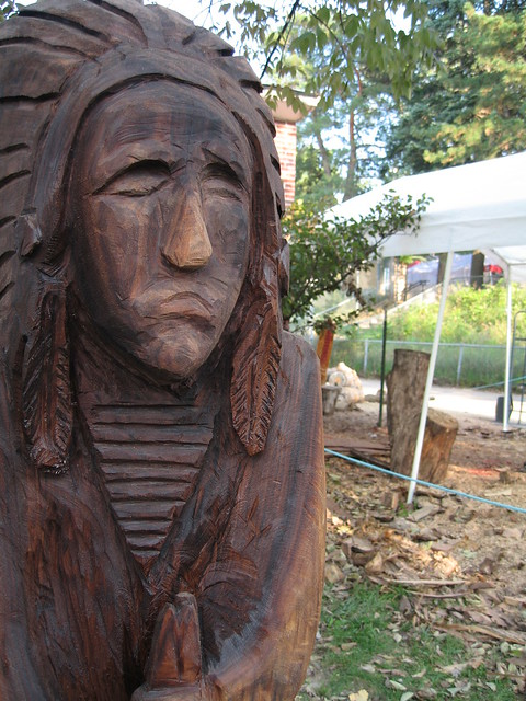 Chainsaw carved wooden indian flickr photo sharing